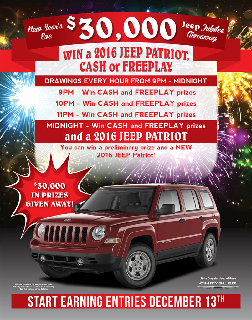 New Years 2016 Jeep Giveaway
