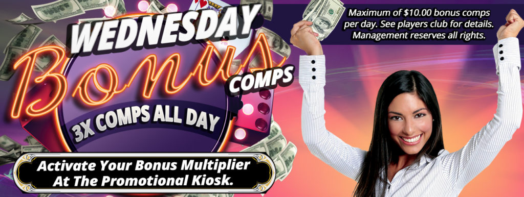 Wednesday Bonus Comps Sparks Casino