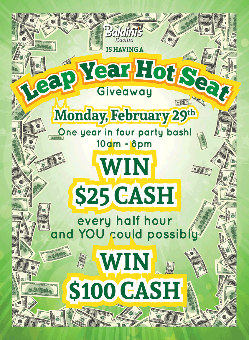 Leap Year Hot Seat at Baldini's Casino