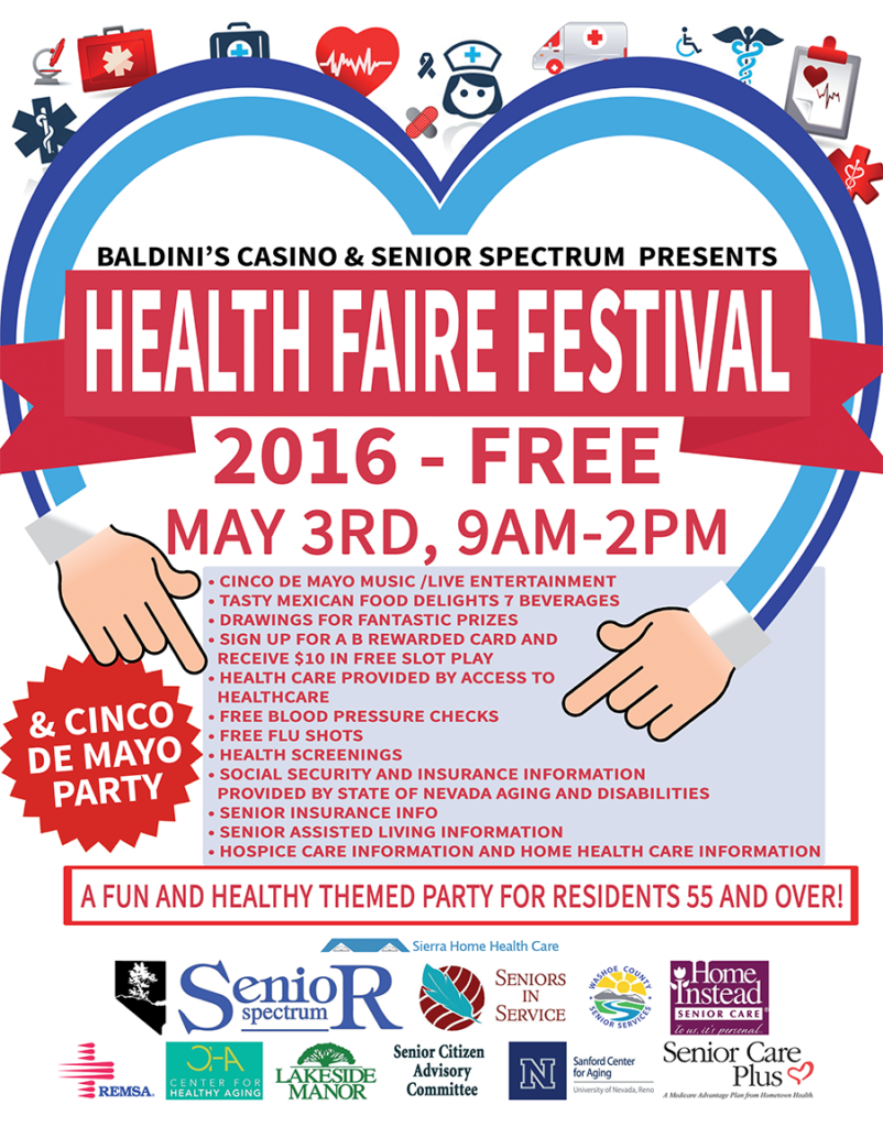 Baldinis Casino Health Festival For Seniors Citizens in Reno/Sparks, Nevada