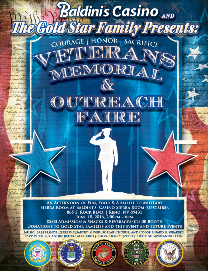 Veterans Memorial & Outreach Faire Northern Nevada at Baldinis Casino