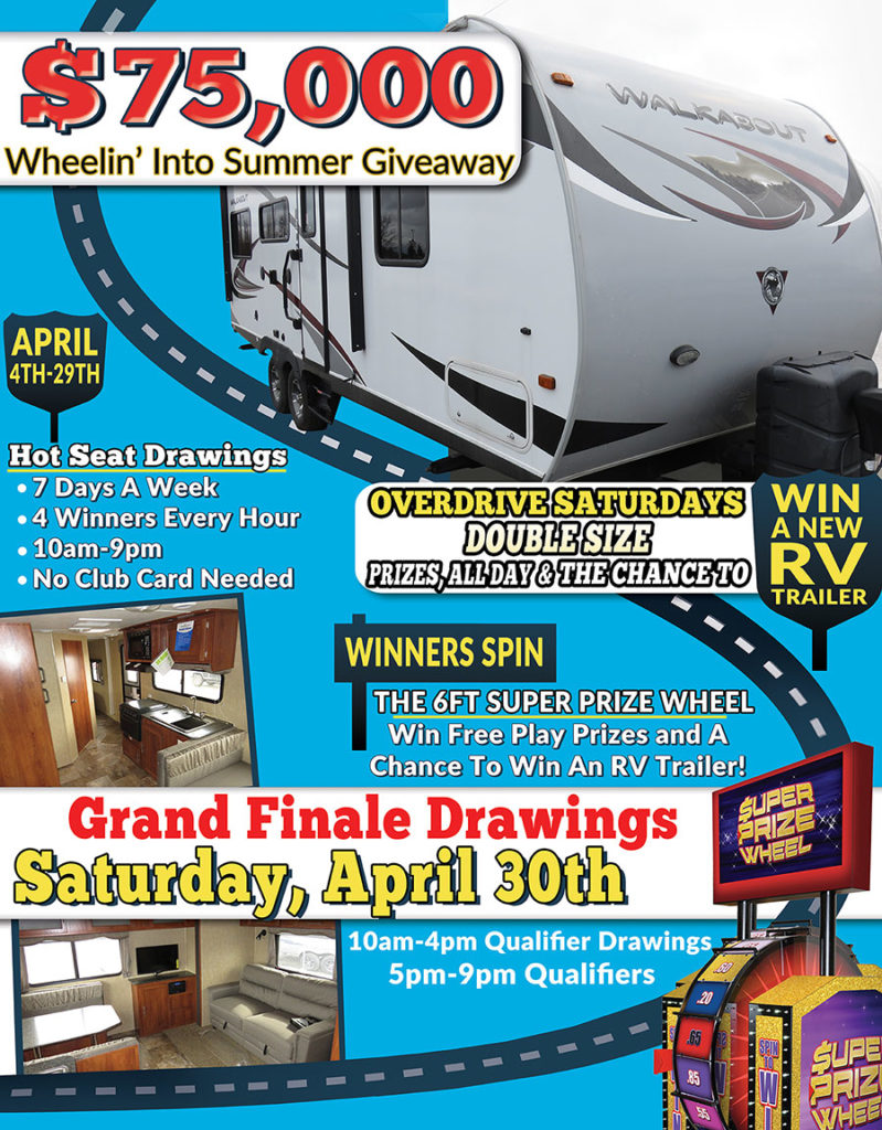 Wheelin' Into Summer Giveaway at Baldinis Casino