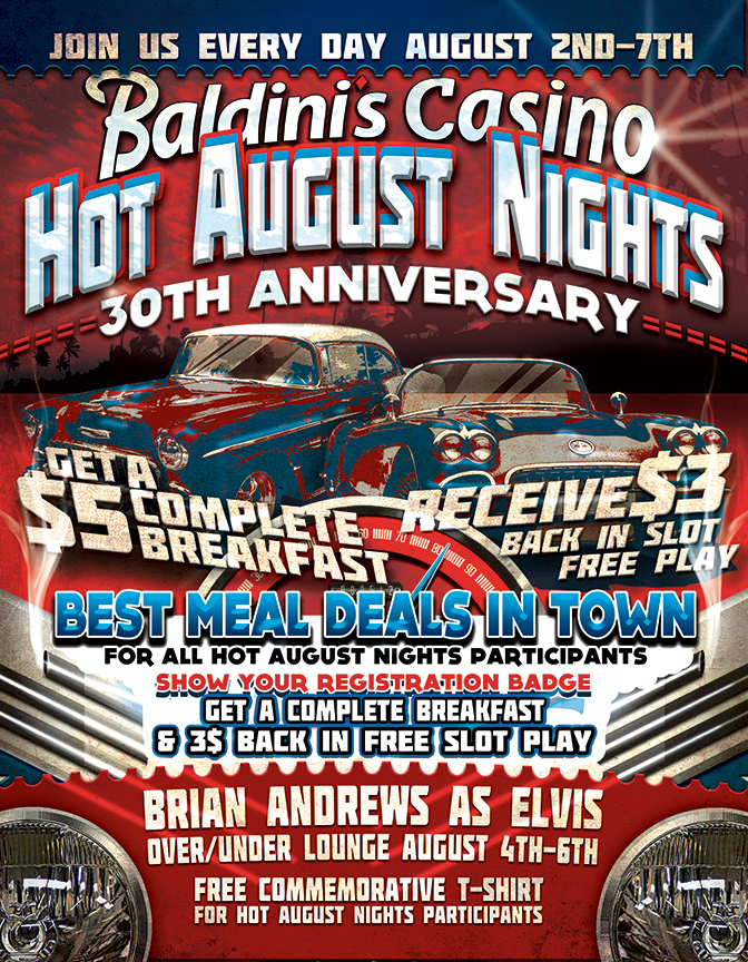 Hot August Nights 30th Anniversary at Baldini's Casino in Sparks, Nevada