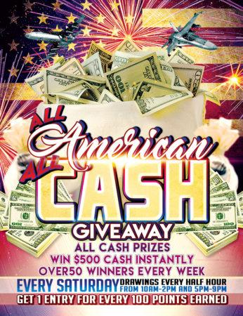 All American All Cash Giveaway at Baldini's Casino