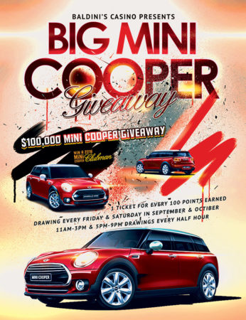 Mini Cooper Giveaway at Baldini's Casino in Sparks Nevada