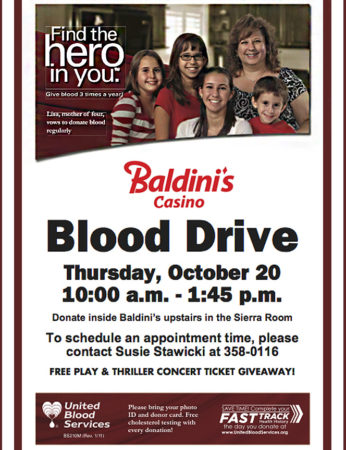 Blood Drive Sparks Casino Nevada