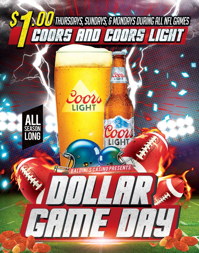 Football Dollar Game Days Sparks Casino