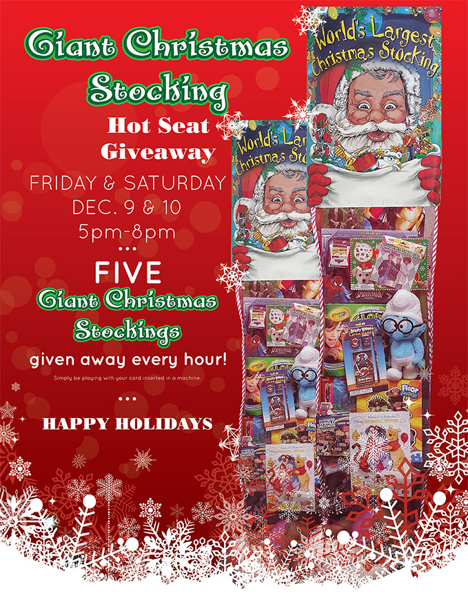 Giant Christmas Stocking - Hot Seat Giveaway