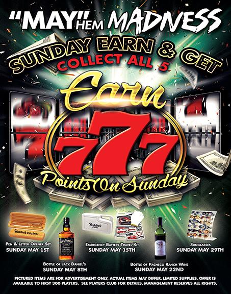 Sunday Earn & Get Sparks Nevada Casino