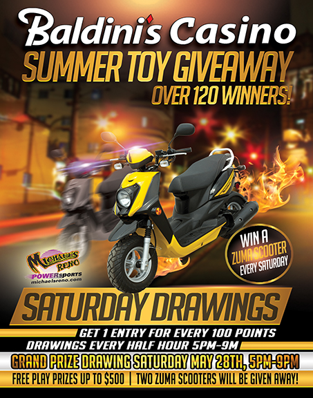 Win A Scooter at Baldinis Reno Nevada Casino