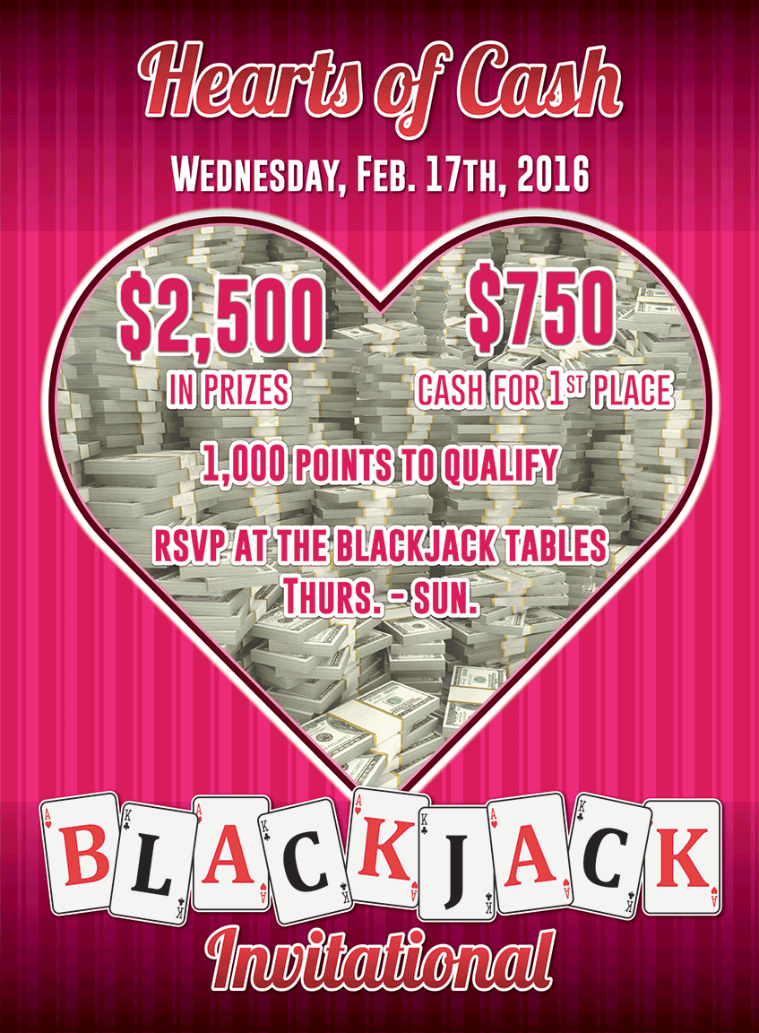 Hearts of Cash Blackjack Invitational at Baldini's Casino