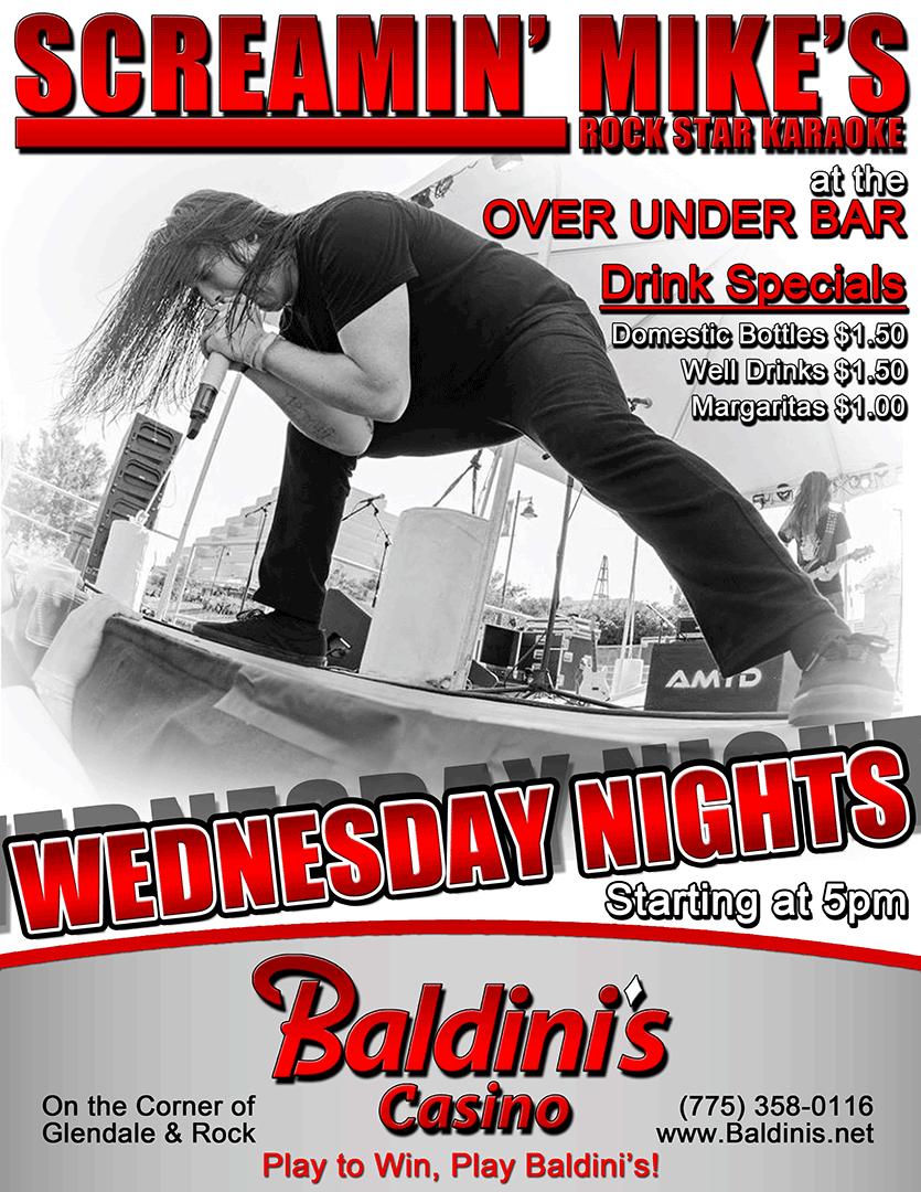 Karaoke Wednesdays at Baldini's Casino