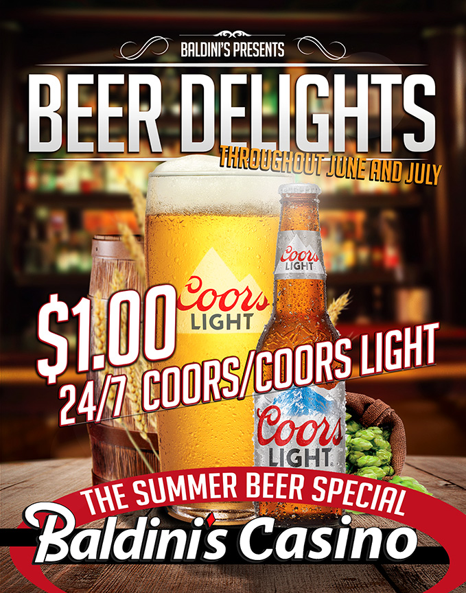 Coors Light Beer Specials Baldini's Casino Sparks Nevada