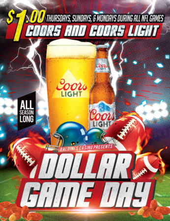 Football Dollar Game Days Sparks Casino