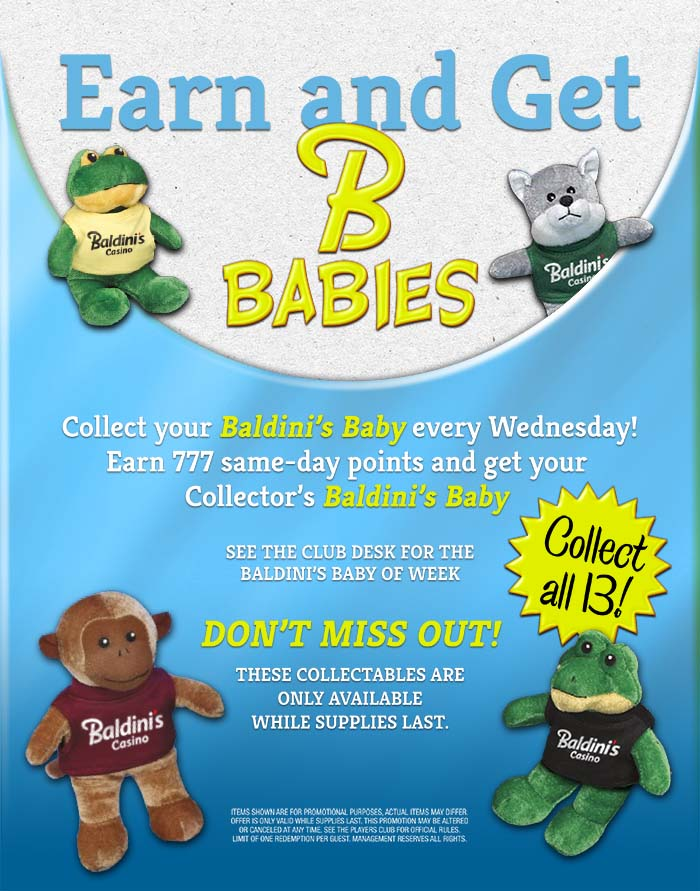 Earn and Get Baldini's Babies Poster Build 2 go