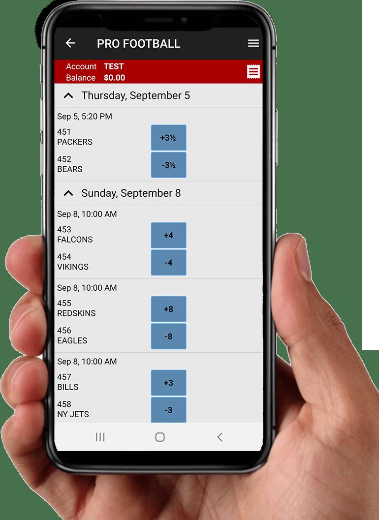 Baldinis Sport app LINES in hand