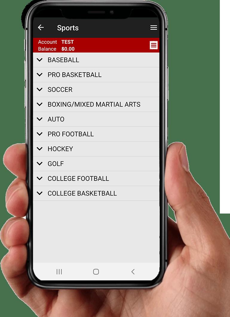 Baldinis Sport app Sports in hand