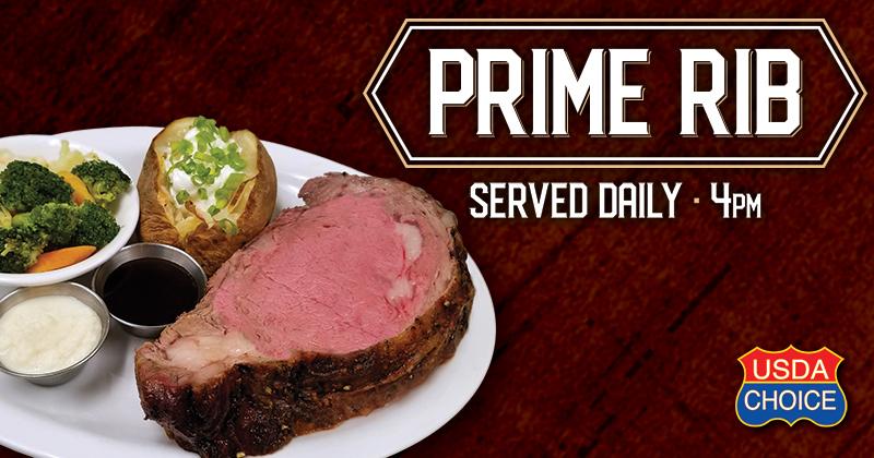 Baldinis Prime Rib Dinner